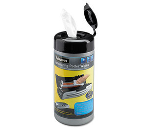 Laminating Roller Wipes, For Jupiter & Venus Laminators, 50/Canister by FELLOWES MFG. CO.
