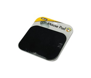 Fellowes, Inc 58024 Polyester Mouse Pad, Nonskid Rubber Base, 9 x 8, Black by FELLOWES MFG. CO.