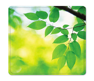 Fellowes, Inc FEL5903801 Recycled Mouse Pad, Nonskid Base, 7 1/2 x 9, Leaves by FELLOWES MFG. CO.