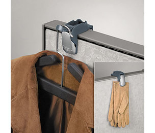 Fellowes, Inc FEL7501101 Pro Series Partition Additions Coat Hook and Clip, 1 5/8 x 3, Slate Gray by FELLOWES MFG. CO.