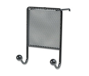 Fellowes, Inc 75903 Mesh Partition Additions Double-Garment Hook, 4 1/2 x 6, Black by FELLOWES MFG. CO.