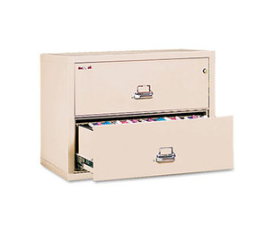 FireKing Security Group 23822CPA Two-Drawer Lateral File, 37-1/2w x 22-1/8d, UL Listed 350, Ltr/Legal, Parchment by FIRE KING INTERNATIONAL