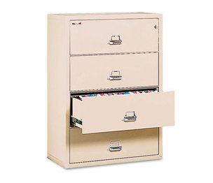FireKing Security Group 43822CPA Four-Drawer Lateral File, 37-1/2w x 22-1/8d, Letter/Legal, Parchment by FIRE KING INTERNATIONAL