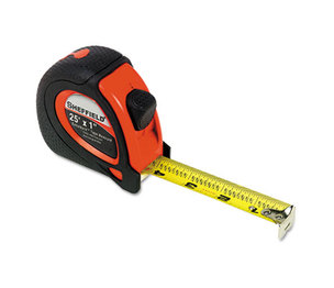"""Great Neck Saw Manufacturers, Inc 58652 Sheffield ExtraMark Tape Measure, Red with Black Rubber Grip, 1"""" x 25 ft by GREAT NECK SAW MFG."""