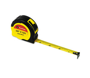 "Great Neck Saw Manufacturers, Inc 95007 ExtraMark Power Tape, 5/8"" x 12ft, Steel, Yellow/Black by GREAT NECK SAW MFG."