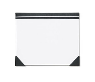 HOUSE OF DOOLITTLE 45002 Executive Doodle Desk Pad, 25-Sheet White Pad, Refillable, 22 x 17, Black/Silver by HOUSE OF DOOLITTLE