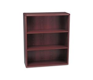 HON COMPANY 10753N 10700 Series Wood Bookcase, Three Shelf, 36w x 13 1/8d x 43 3/8h, Mahogany by HON COMPANY