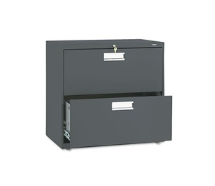 HON COMPANY 672LS 600 Series Two-Drawer Lateral File, 30w x 19-1/4d, Charcoal by HON COMPANY