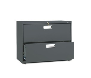 HON COMPANY 682LS 600 Series Two-Drawer Lateral File, 36w x 19-1/4d, Charcoal by HON COMPANY