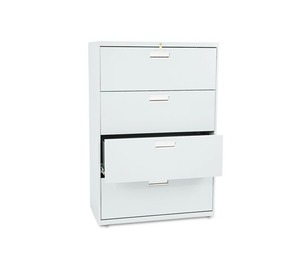 HON COMPANY 684LQ 600 Series Four-Drawer Lateral File, 36w x 19-1/4d, Light Gray by HON COMPANY
