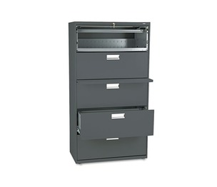 HON COMPANY 685LS 600 Series Five-Drawer Lateral File, 36w x 19-1/4d, Charcoal by HON COMPANY