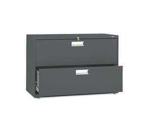 HON COMPANY 692LS 600 Series Two-Drawer Lateral File, 42w x 19-1/4d, Charcoal by HON COMPANY