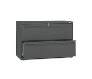 HON COMPANY 792LS 700 Series Two-Drawer Lateral File, 42w x 19-1/4d, Charcoal by HON COMPANY