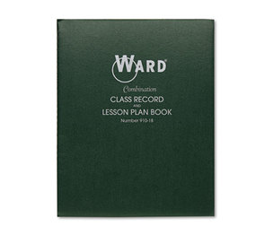 THE HUBBARD COMPANY 910-18 Combination Record & Plan Book, 9-10 Weeks, 8 Periods/Day, 11 x 8-1/2 by THE HUBBARD COMPANY