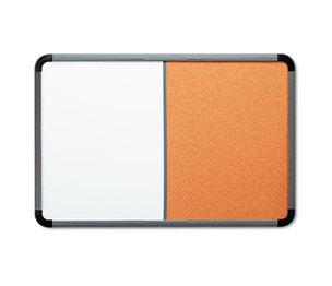 ICEBERG ENTERPRISES, LLC 36047 Ingenuity Combo Dry Erase/Cork Board, Resin Frame, 48 x 36, Charcoal Frame by ICEBERG ENTERPRISES