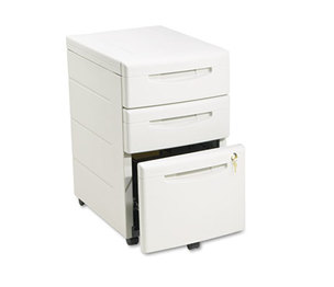 ICEBERG ENTERPRISES, LLC 95213 Aspira Mobile Underdesk Pedestal File, Resin, Box/Box/File Drawer, Platinum by ICEBERG ENTERPRISES