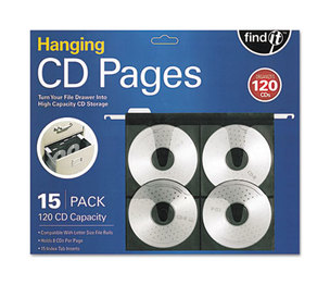 IdeaStream Consumer Products, LLC FT07069 Hanging CD Pages, 15/Pack by IDEASTREAM CONSUMER PRODUCTS