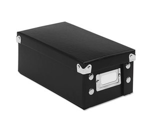 IdeaStream Consumer Products, LLC SNS01573 Snap 'N Store Collapsible Index Card File Box Holds 1,100 3 x 5 Cards, Black by IDEASTREAM CONSUMER PRODUCTS