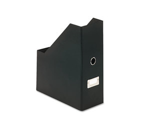 IdeaStream Consumer Products, LLC SNS01637 Heavy-Duty Fiberboard Magazine File with PVC Laminate, 4 1/2 x 11 x 13, Black by IDEASTREAM CONSUMER PRODUCTS
