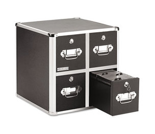 IdeaStream Consumer Products, LLC VZ01049 Four-Drawer CD File Cabinet, Holds 660 Folders/240 Slim/120 Std. Cases by IDEASTREAM CONSUMER PRODUCTS