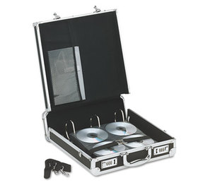 IdeaStream Consumer Products, LLC VZ01076 Vaultz Locking Media Binder, Holds 200 Disks, Black by IDEASTREAM CONSUMER PRODUCTS