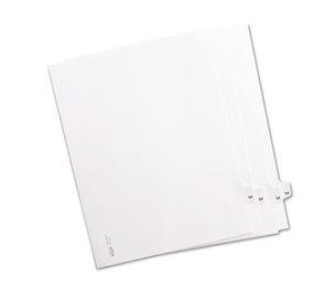 """Kleer-Fax, Inc 82254 80000 Series Legal Index Dividers, Side Tab, Printed """"54"""", 25/Pack by KLEER-FAX"""