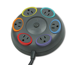 ACCO Brands Corporation K62634US SmartSockets Color-Coded Surge Protector, 6 Outlets, 16 ft Cord, 1500 Joules by ACCO BRANDS, INC.