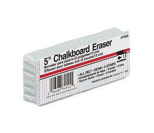 Charles Leonard, Inc 74555 5-Inch Chalkboard Eraser, Wool Felt, 5w x 2d x 1h by CHARLES LEONARD, INC