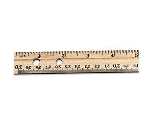 "Charles Leonard, Inc 77120 Economical Beveled Wood Ruler w/Single Metal Edge, 12"", Natural, 36/Box by CHARLES LEONARD, INC"