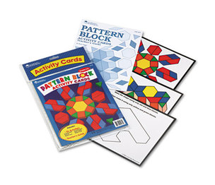 LEARNING RESOURCES/ED.INSIGHTS LER0264 Intermediate Pattern Block Design Cards, for Grades 2-6 by LEARNING RESOURCES