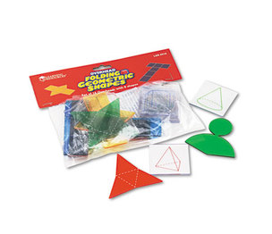 LEARNING RESOURCES/ED.INSIGHTS LER0910 Overhead Folding Geometric Shapes, for Grades 2 and Up by LEARNING RESOURCES