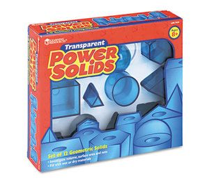 LEARNING RESOURCES/ED.INSIGHTS LER7630 Power Solids, Science Manipulatives, for Grades 3-12 by LEARNING RESOURCES