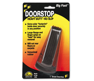 MASTER CASTER COMPANY 00920 Big Foot Doorstop, No-Slip Rubber Wedge, 2-1/4w x 4-3/4d x 1-1/4h, Brown by MASTER CASTER COMPANY