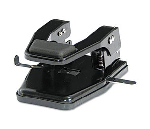 """PREMIER MARTIN YALE MP250 40-Sheet Heavy-Duty Two-Hole Punch, 9/32"""" Holes, Padded Handle, Black by PREMIER MARTIN YALE"""