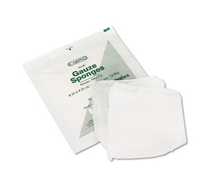 Caring Woven Gauze Sponges, 4 x 4, Sterile, 12-Ply, 600/Carton by MEDLINE INDUSTRIES, INC.