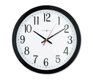 "Howard Miller 625-166 Gallery Wall Clock, 16"", Black by HOWARD MILLER CLOCK CO."