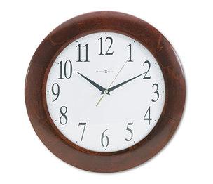 "Howard Miller 625-214 Corporate Wall Clock, 12-3/4"", Cherry by HOWARD MILLER CLOCK CO."