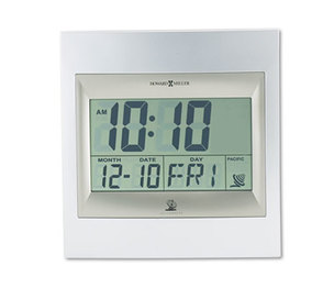 """Howard Miller 625-236 TechTime II Radio-Controlled LCD Wall/Table Alarm Clock, 8-3/4""""W x 1""""D x 9-1/4""""H by HOWARD MILLER CLOCK CO."""