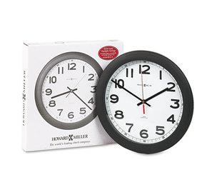 "Howard Miller 625-320 Norcross Auto Daylight-Savings Wall Clock, 12-1/4"", Black, 1 AA by HOWARD MILLER CLOCK CO."