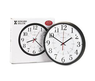 "Howard Miller 625-323 Alton Auto Daylight Savings Wall Clock, 14"", Black by HOWARD MILLER CLOCK CO."