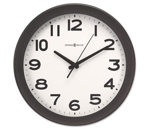 "Howard Miller 625-485 Kenwick Wall Clock, 13-1/2"", Black by HOWARD MILLER CLOCK CO."