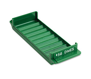 Porta-Count System Rolled Coin Plastic Storage Tray, Green by MMF INDUSTRIES
