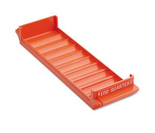 MMF INDUSTRIES 212082516 Porta-Count System Rolled Coin Plastic Storage Tray, Orange by MMF INDUSTRIES