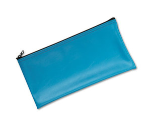 MMF INDUSTRIES 2340416W38 Leatherette Zippered Wallet, Leather-Like Vinyl, 11w x 6h, Marine Blue by MMF INDUSTRIES