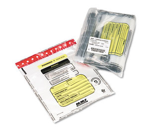 MMF INDUSTRIES 2362011N20 Tamper-Evident Deposit/Cash Bags, Plastic, 12 x 16, Clear, 100 Bags/Box by MMF INDUSTRIES