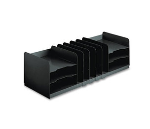MMF INDUSTRIES 26420HVHABLA Adjustable Organizer, 11 Sections, Steel, 30 x 11 x 8 1/8, Black by MMF INDUSTRIES