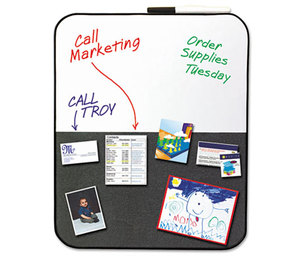 3M 558CBS Self-Stick/Dry Erase Combination Board, 22 x 18, Gray/White, Black Frame by 3M/COMMERCIAL TAPE DIV.
