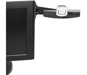 3M DH240MB Swing Arm Copyholder, Adhesive Monitor Mount, Plastic, 30 Sheet Capacity, Black by 3M/COMMERCIAL TAPE DIV.
