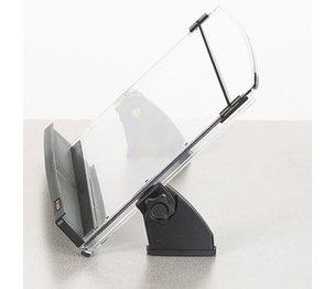 3M DH630 In-Line Adjustable Desktop Copyholder, Plastic, 150 Sheet Capacity, Black/Clear by 3M/COMMERCIAL TAPE DIV.