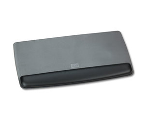 3M WR420LE Antimicrobial Gel Keyboard Wrist Rest Platform, Black/Gray/Silver by 3M/COMMERCIAL TAPE DIV.